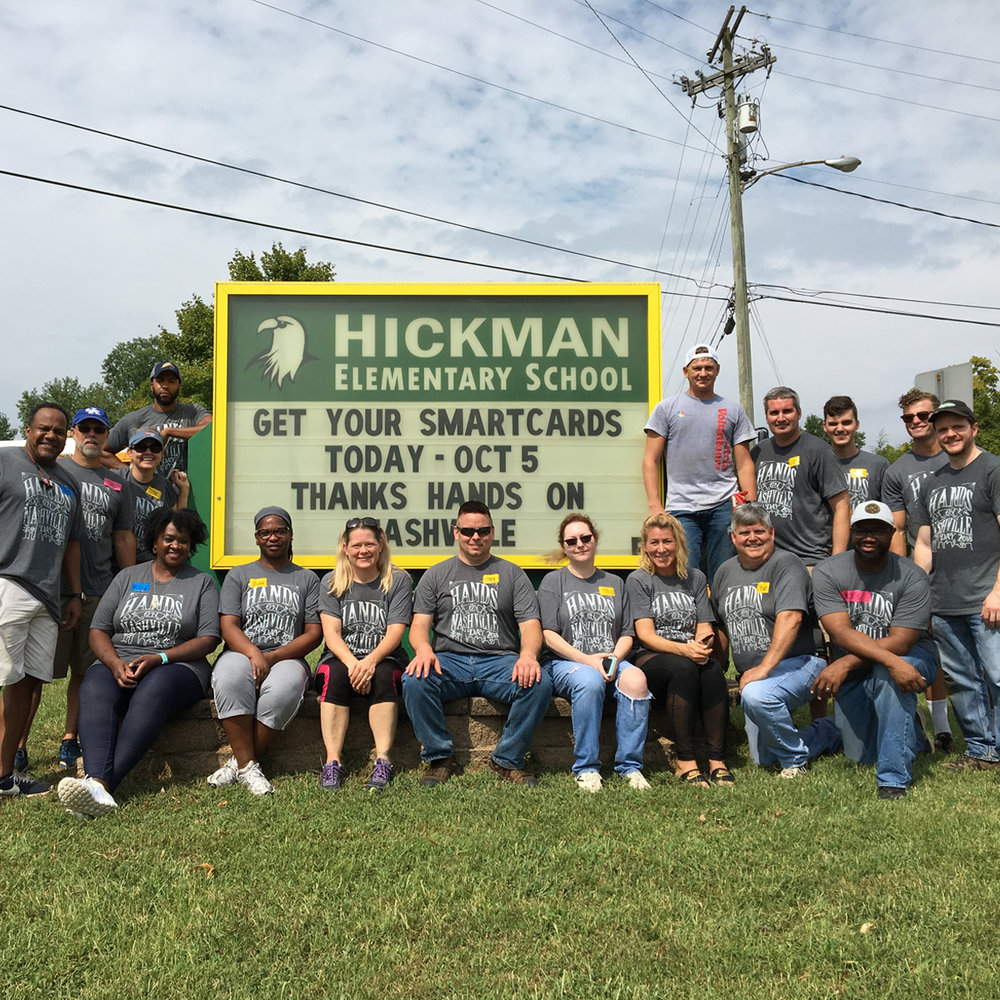 Altria team members at Hickman Elementary.
