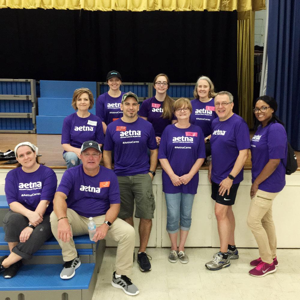 Aetna team members at Goodlettsville Elementary School.