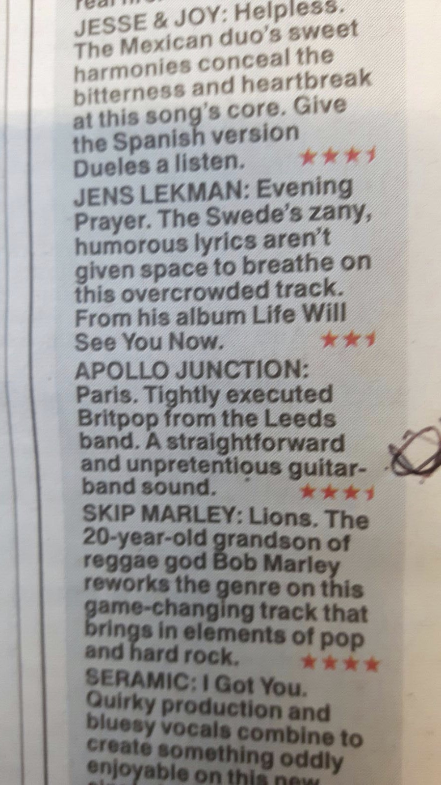 The Sun: Hot Tracks of the Week