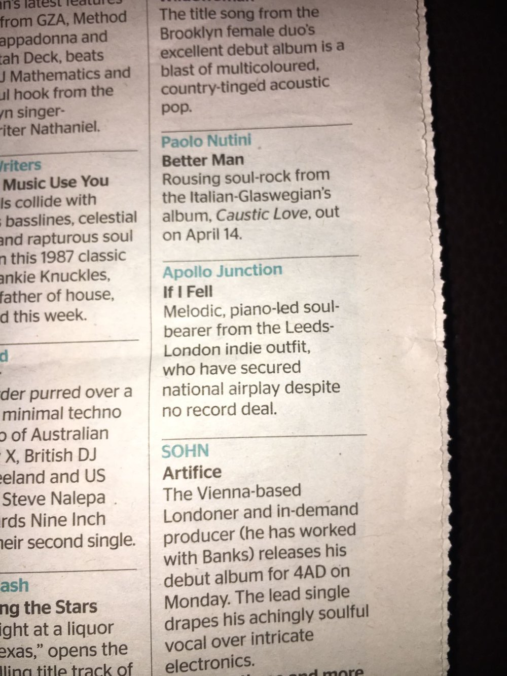 The Times: New Tracks