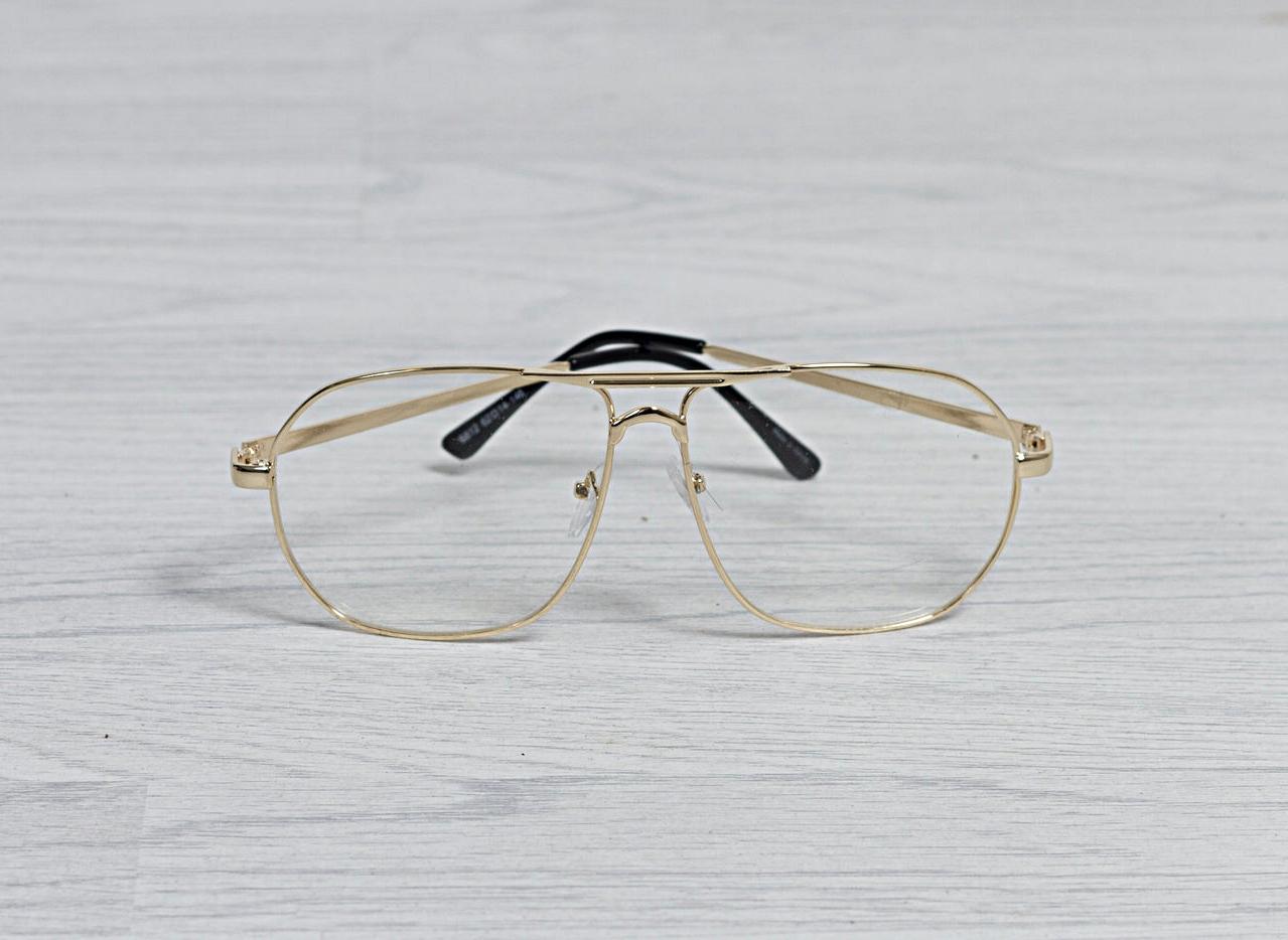 Clear Lens Gold Frame Retro Glasses — Solh Carter The Black Bobble Cap