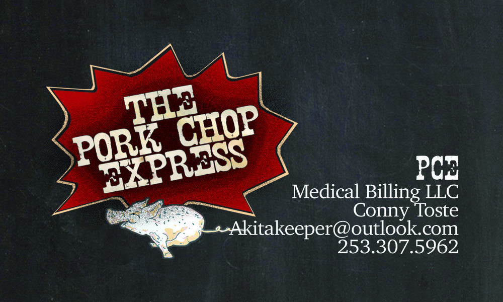 PCE (Pork Chop Express) Medical Billing Service - Business Cards