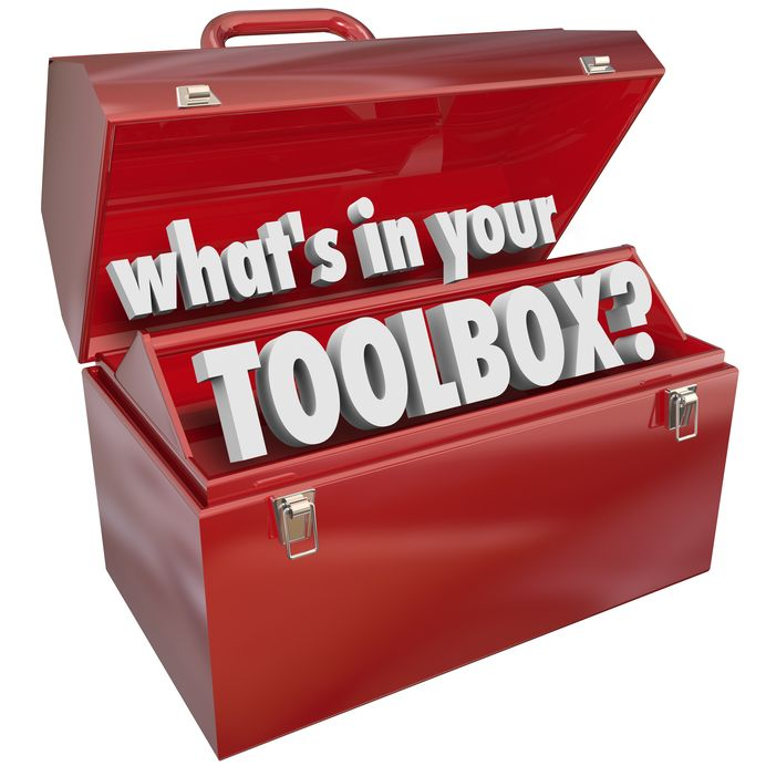 21642421 - the question what's in your toolbox? asking if you have the skills and experience necessary to perform a task or job