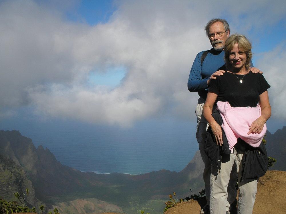 vj and john at kalalau valley lookout.jpg