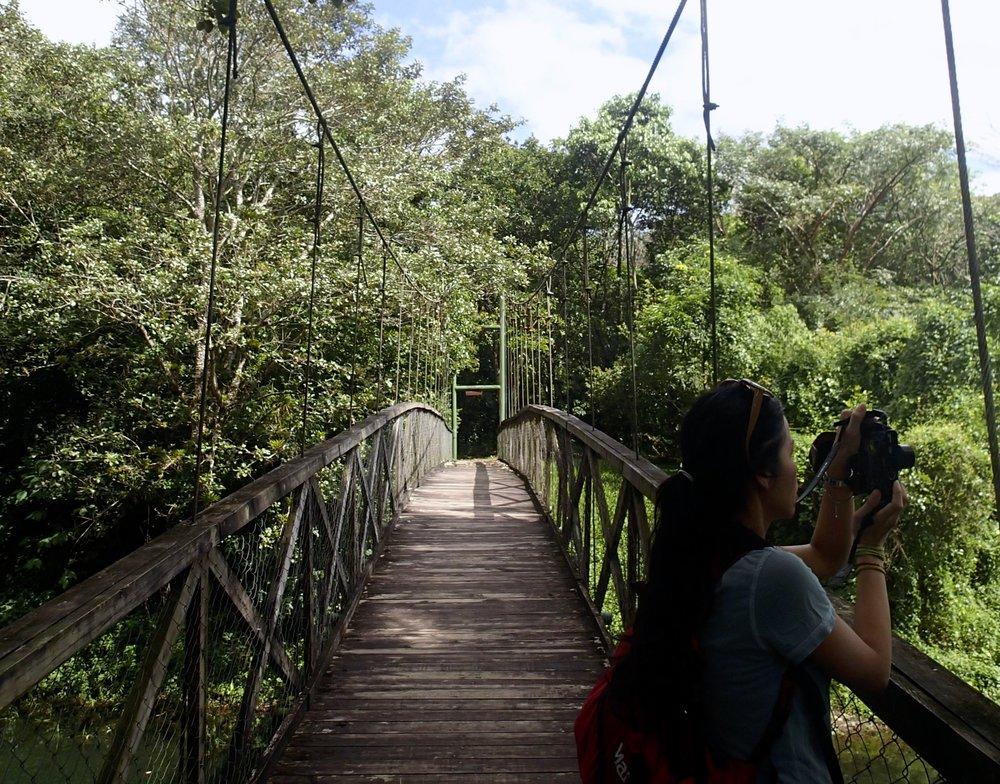 Pei-Ciao on suspension bridge.jpg