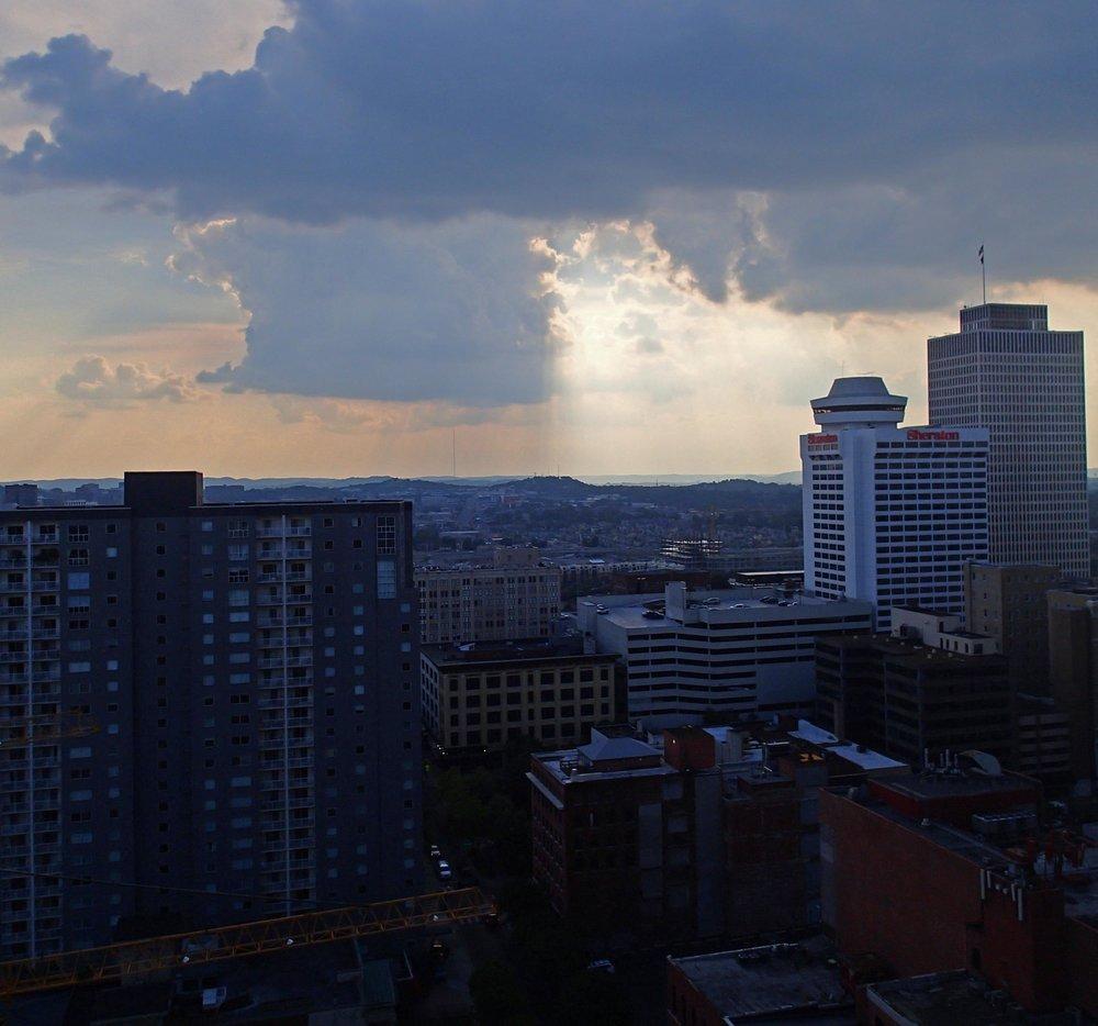 sunset over Nashville 9-6-15.jpg
