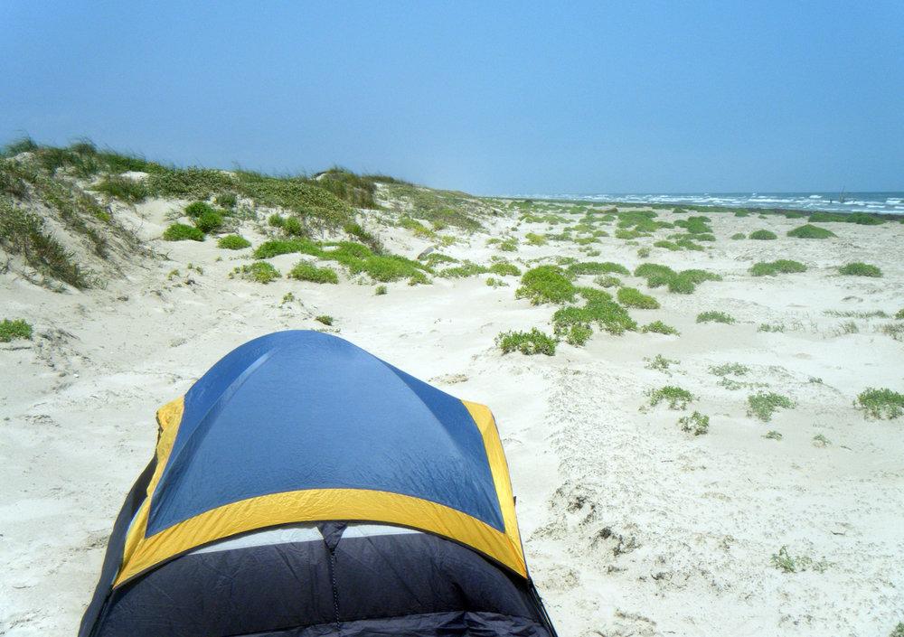 the trusty tent in Texas.jpg
