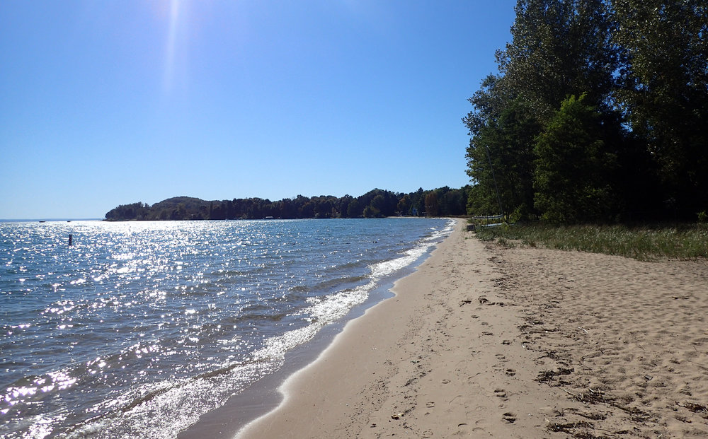 lakeside beach in Grand Traverse Peninsula.jpg