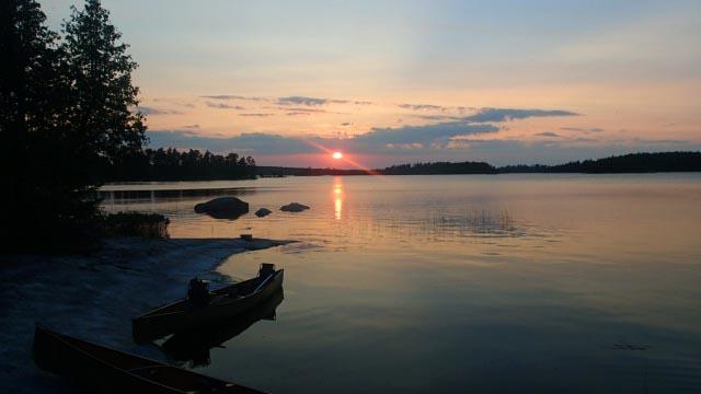 sunset over Iron Lake.jpg