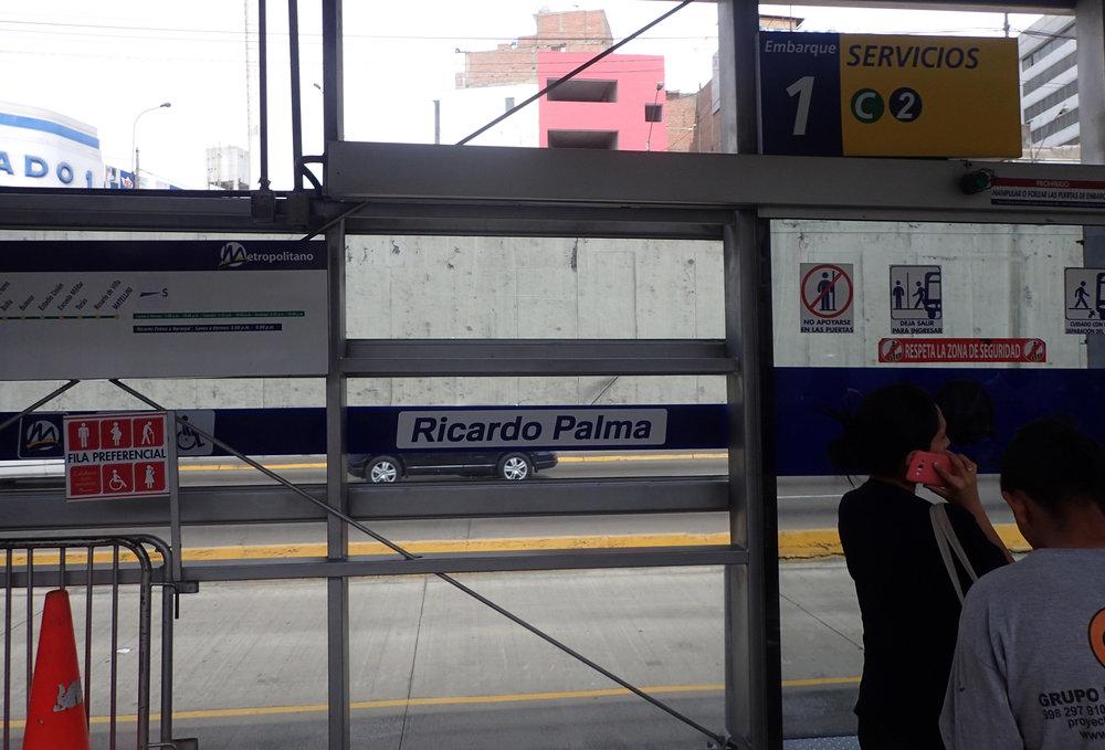 Ricardo Palma bus station-Metropolitano.jpg