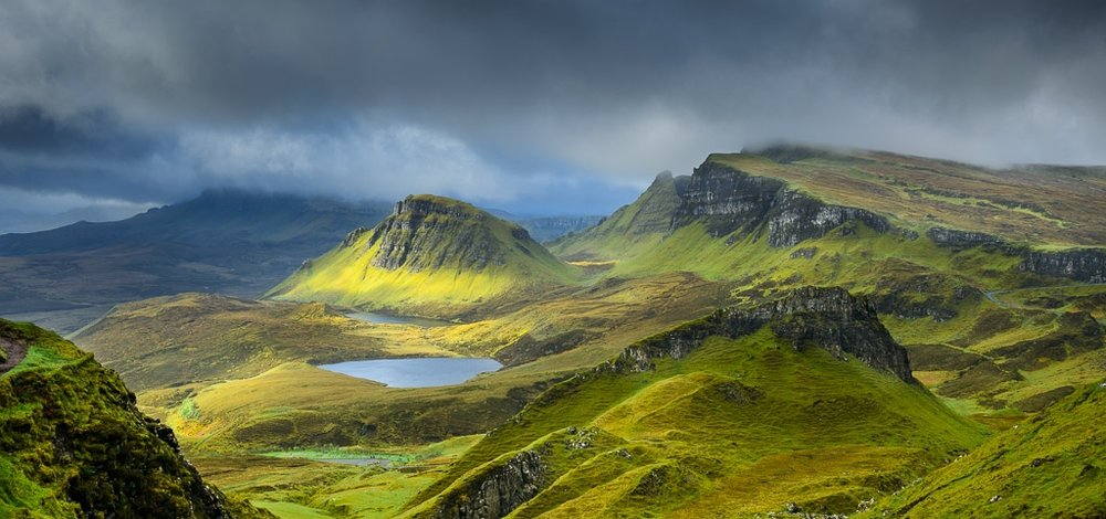 "Picture credit:  ""Clouds over Quiraing"" by Luis Ascenso.  (CC 2.0)"