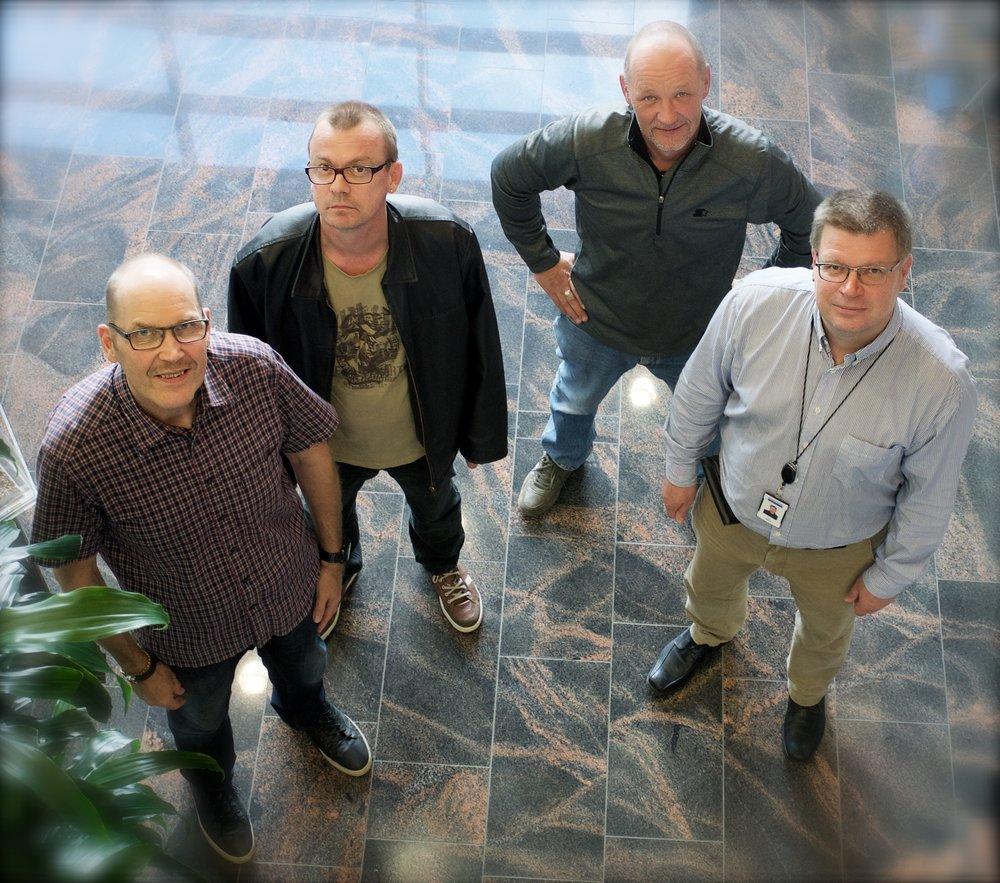 Kuvassa vasemmalta Timo Rajala, Jari Semi, Jorma Leinonen ja Jari Weman ovat tuttuja kasvoja edellisistä hallituksista