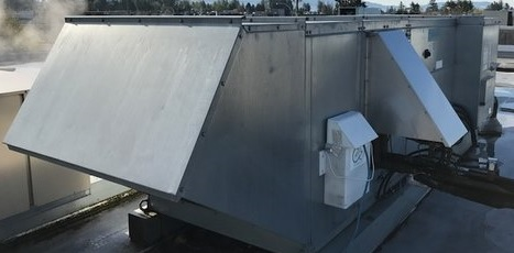 Simply retrofits to the buildings air handler