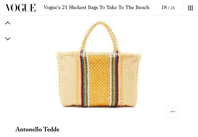 You can now catch us in Vogue !! Thank you @britishvogue for the feature 👜✨ . . . . #AntonelloTedde #AntonelloTeddeBags #VogueMagazine #VogueBritish #VogueUK