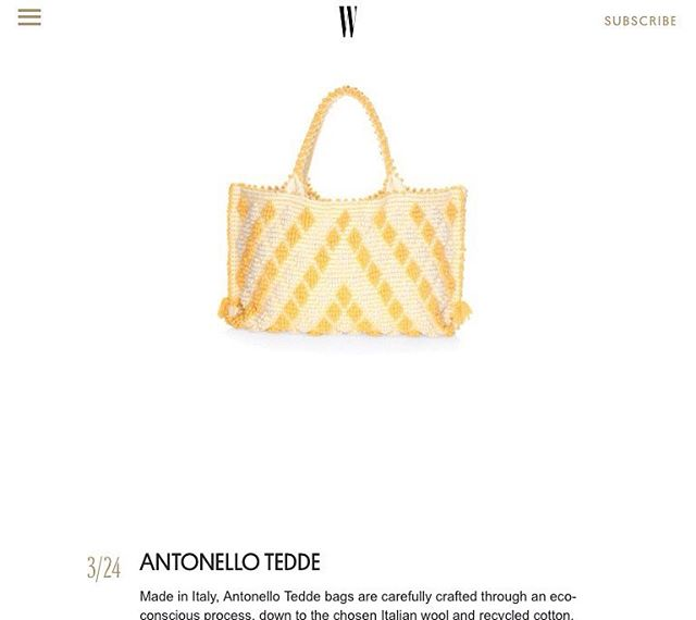 """Guess who was featured on @wmag ?  Find us under the article """"These are the 24 Hottest Summer Bags to Buy Now"""" 🙌🏻👜✨ . . . . #AntonelloTedde #AntonelloBags #EcoFriendlyBags #EcoConscious #Totes #EverydayEssentials  #BagoftheDay"""
