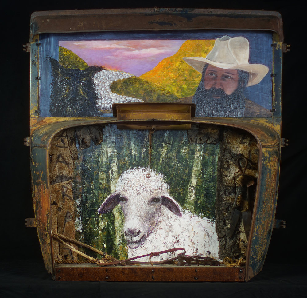 """""""The Shepherds"""" Model AA Ford Truck 1933 - Paintings: Acrylic on board - 2018"""