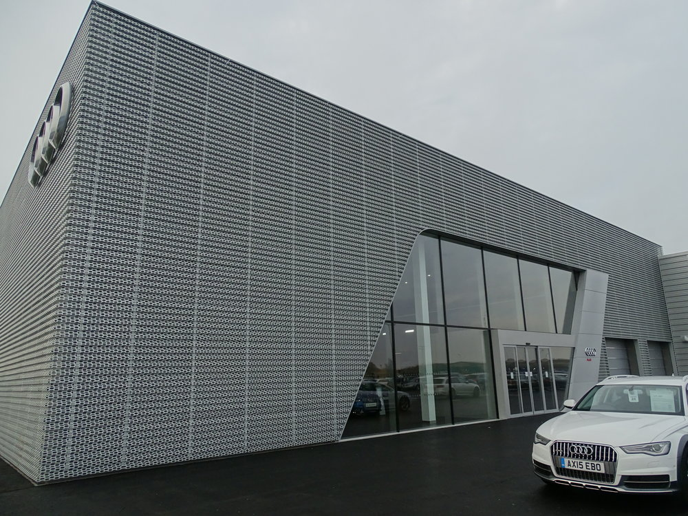 EDM Spanwall anodised aluminium perforated rainscreen cladding
