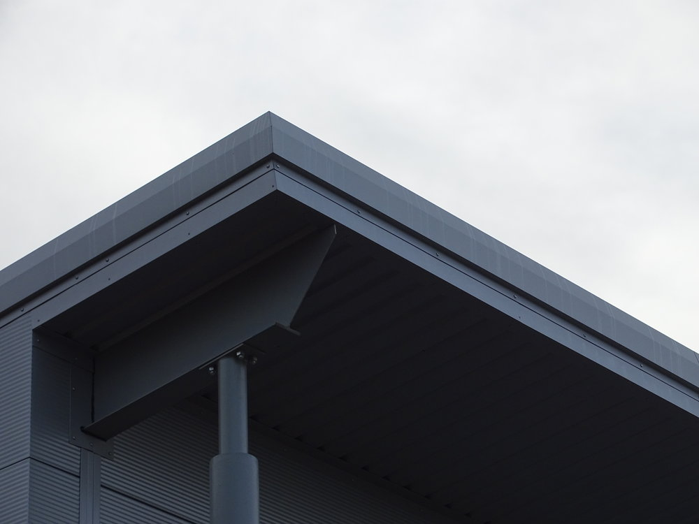 Tata Steel & Profiles C19 soffit cladding and mono-ridge bargeboard flashing