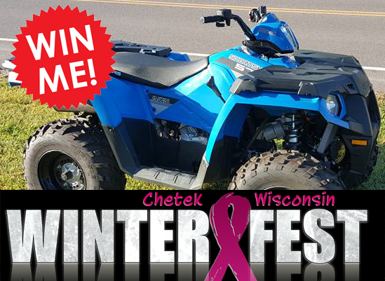 Winter Fest Raffle Tickets  - Prizes are a 2016 Polaris Sportsmen 570 • Brewers ticket package • Dinner every monthly for a year at Gilligans • Dinner every monthly for a year at Reds. Tickets are $10 each or 3 for $25 and are available at local Chamber Member busineses.