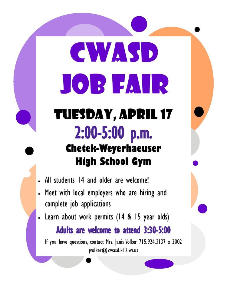 CWASD Job Fair — Explore Chetek, WI