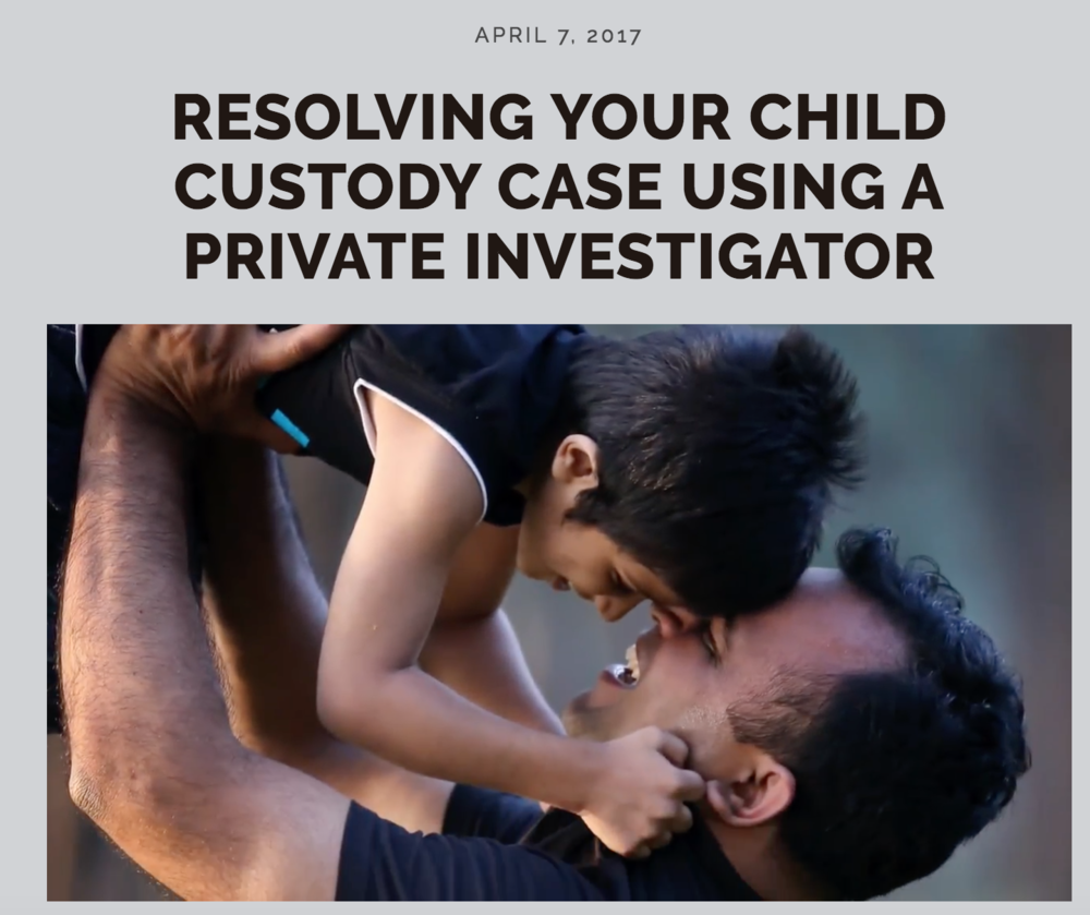 resolving child custody case