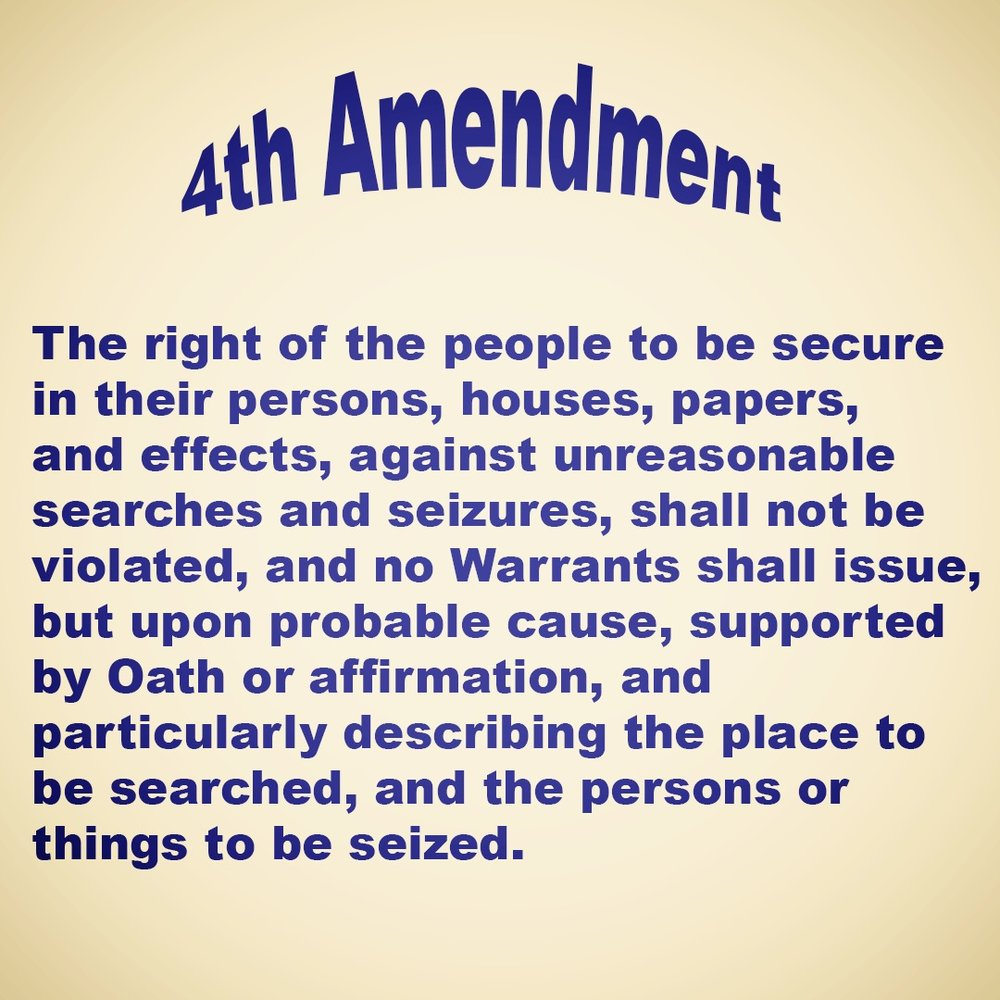 4th amendment full legal definition