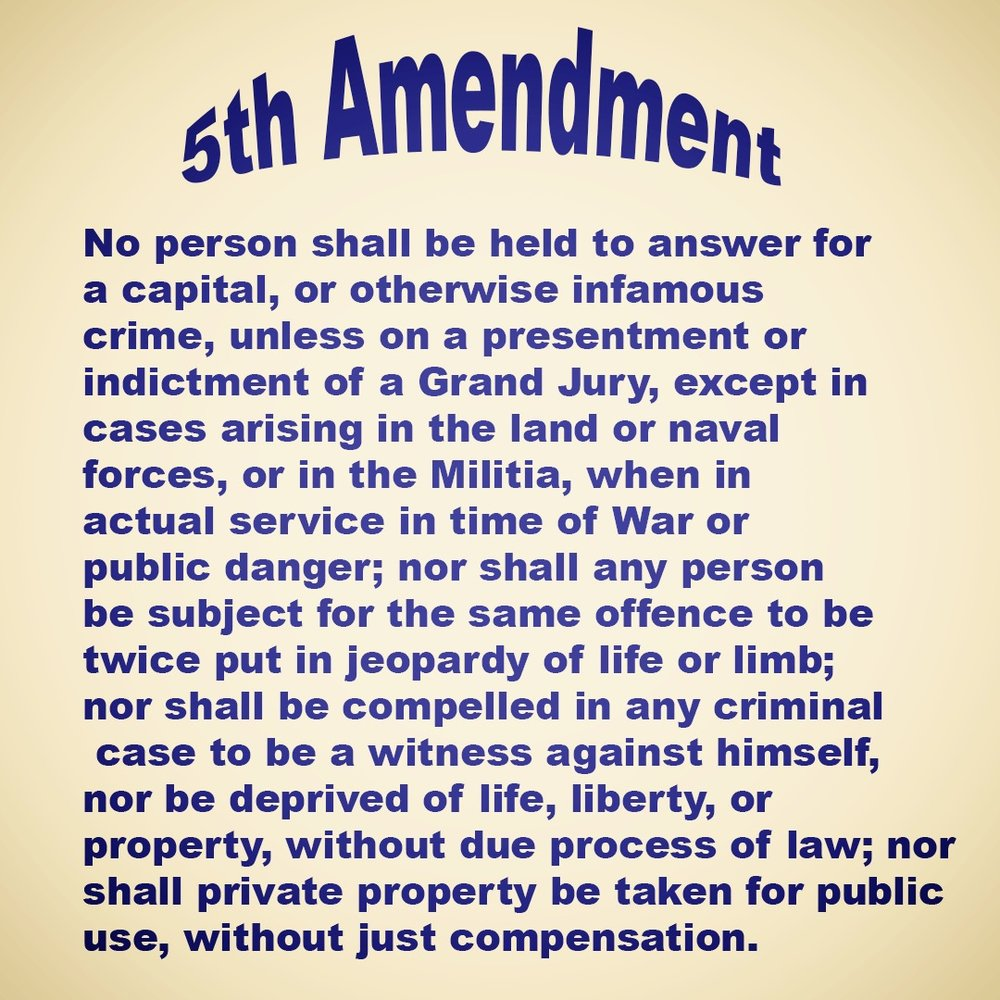 legal definition of the 5th amendment