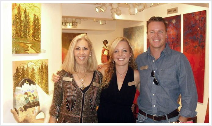 Rebecca (L), daughter Jami and son Josh at a recent show in Sedona .