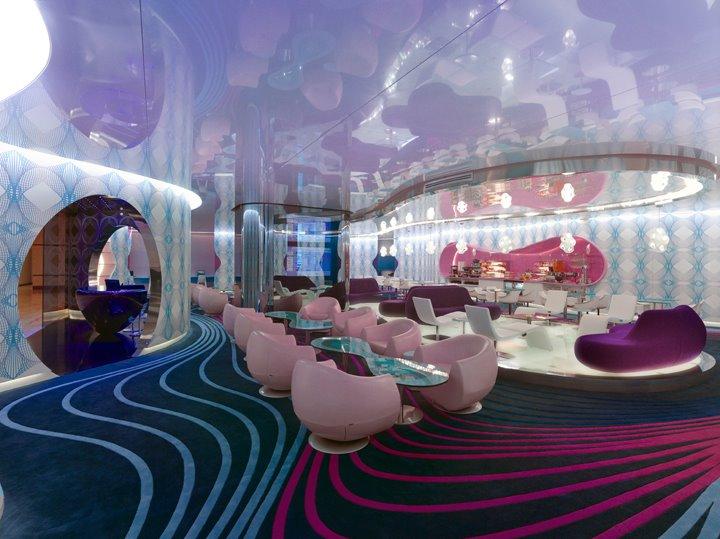 Karim rashid 's World lounge, Yapi Kredi Bank, Istanbul airport 2008