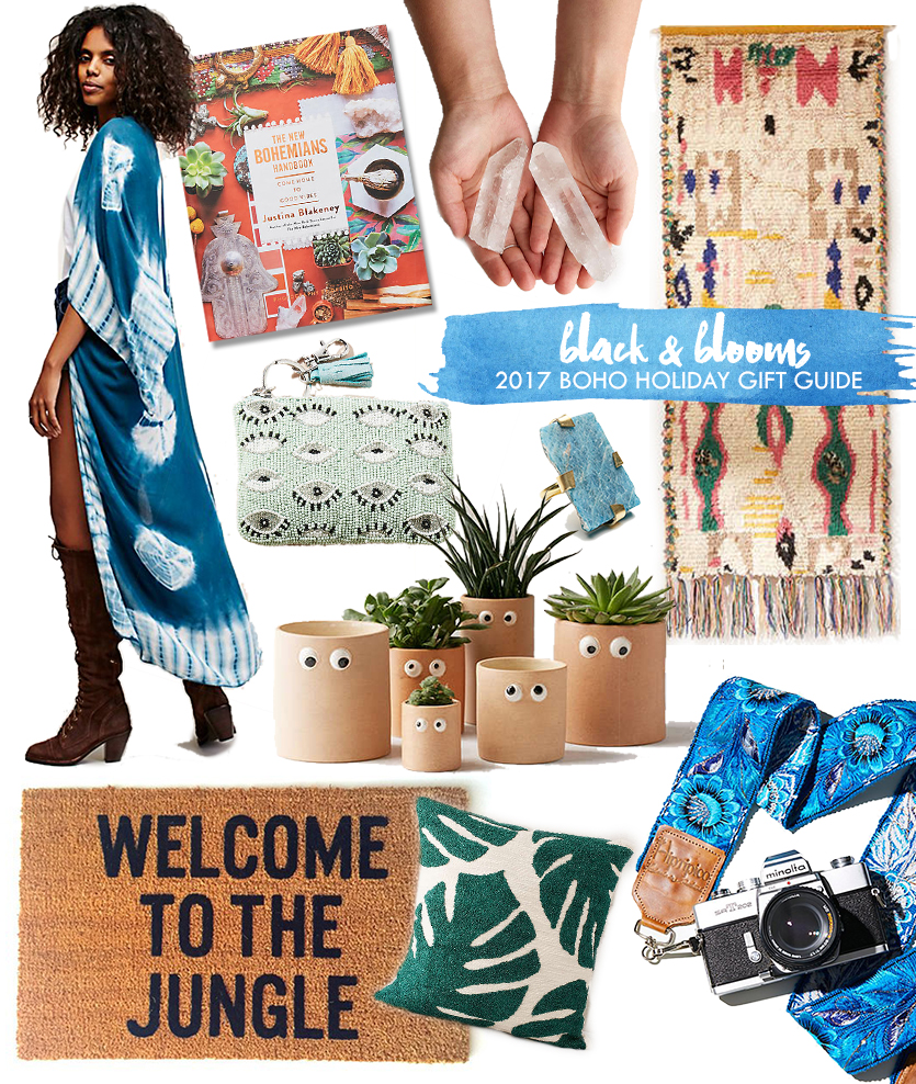 Black & Blooms Boho Gift Guide 2017