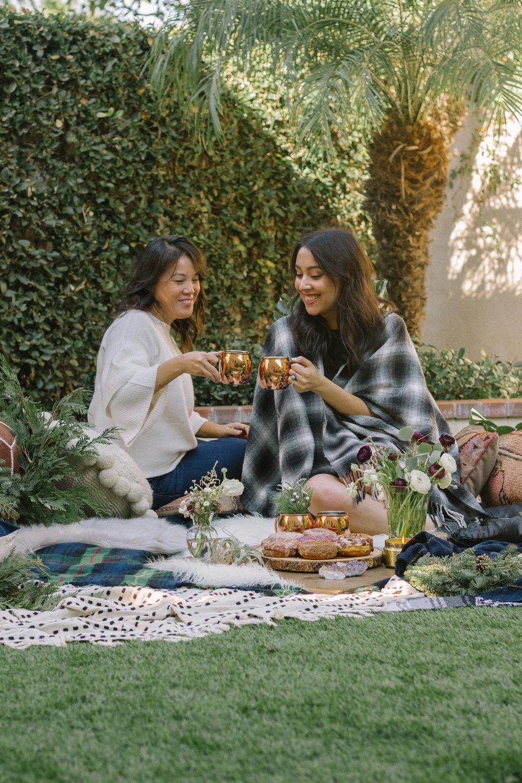 boho brunch picnic
