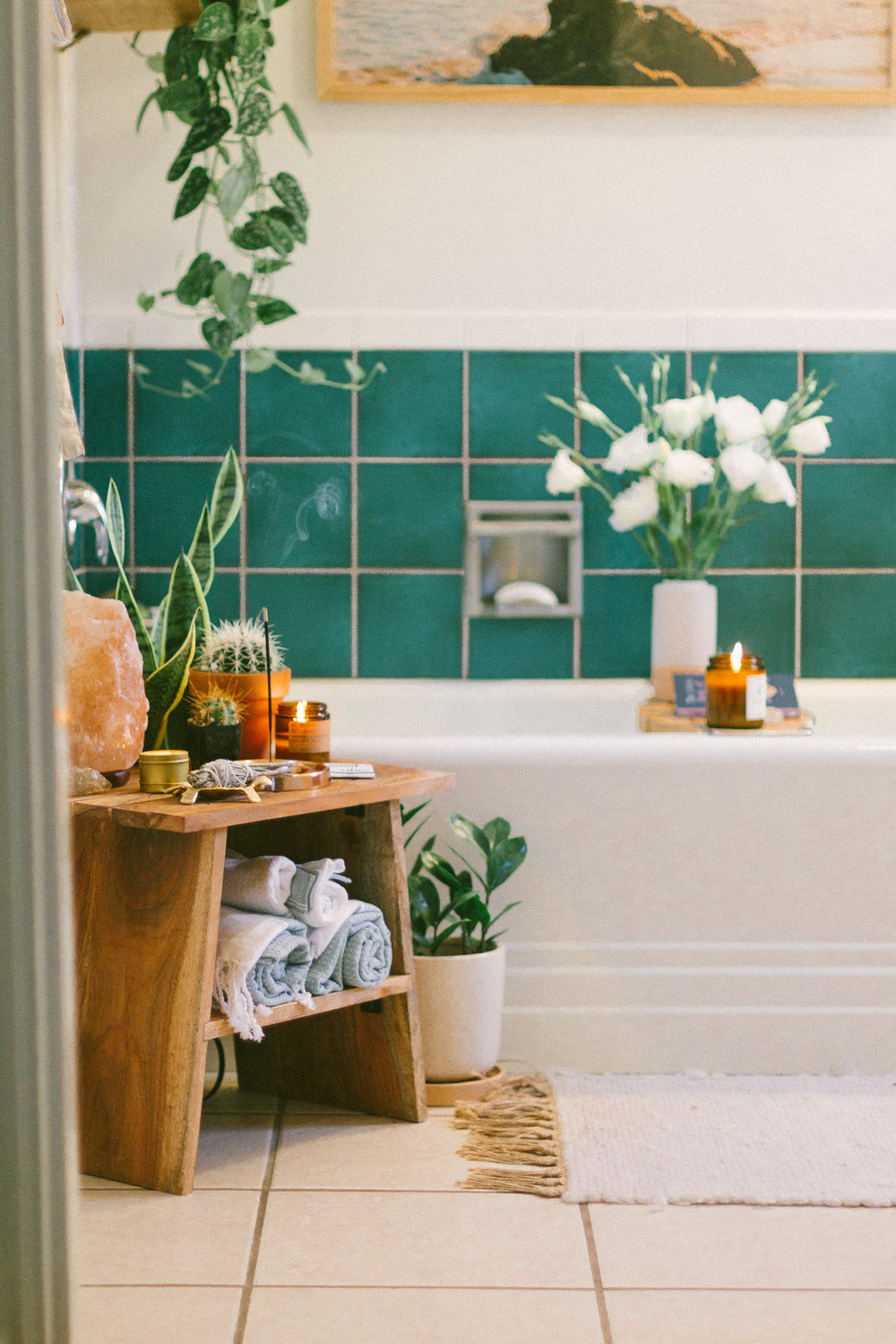 boho bathroom tile stickers