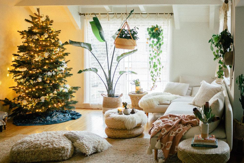 floral christmas tree 6