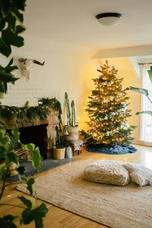 floral christmas tree 8