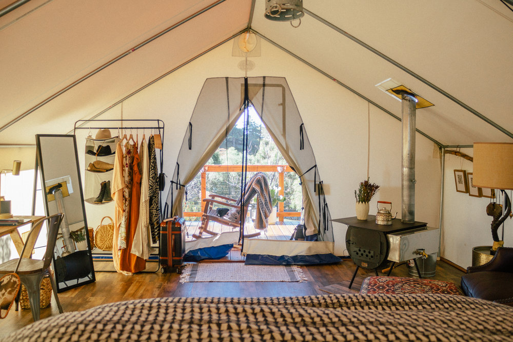 glamping eco tent interior 3