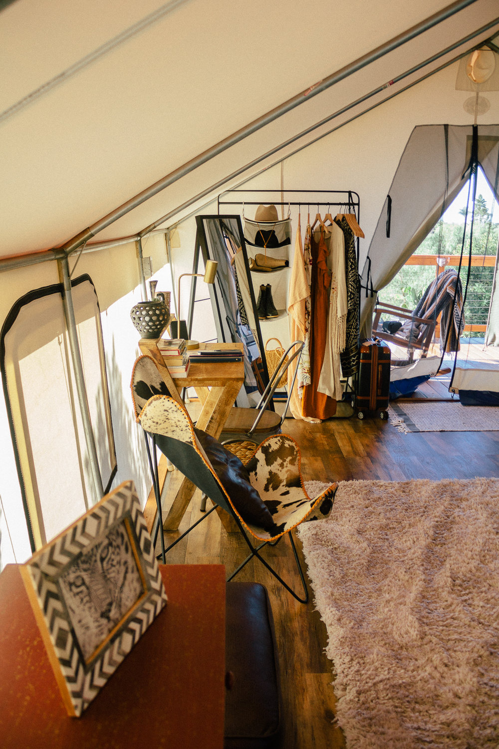 glamping eco tent interior 4