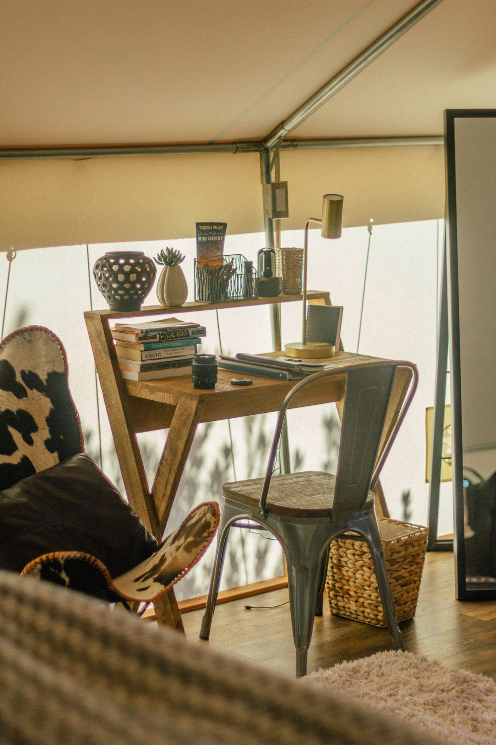 glamping eco tent interior 7