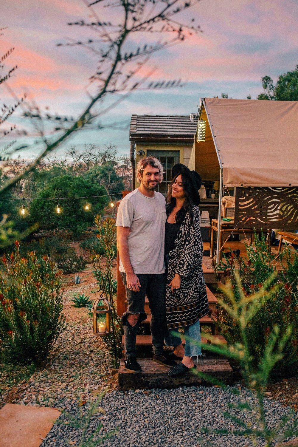 eco tent glamping sunset california