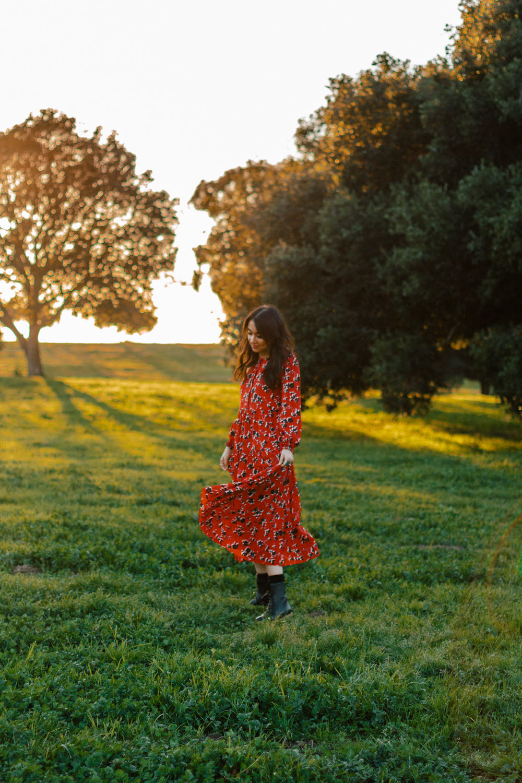 red boho dress 2