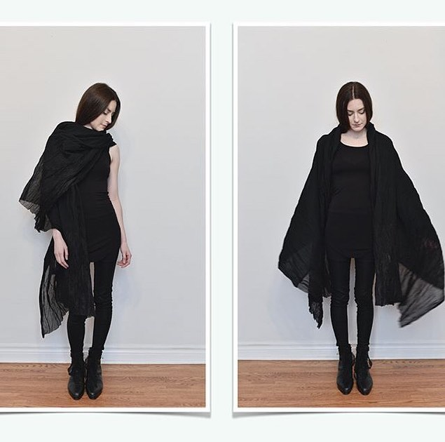Next up! One extra large crinkled cotton shawl by Nuit - from their SS16 collection & totally sold out everywhere! Was $96, now $70. DM to buy!