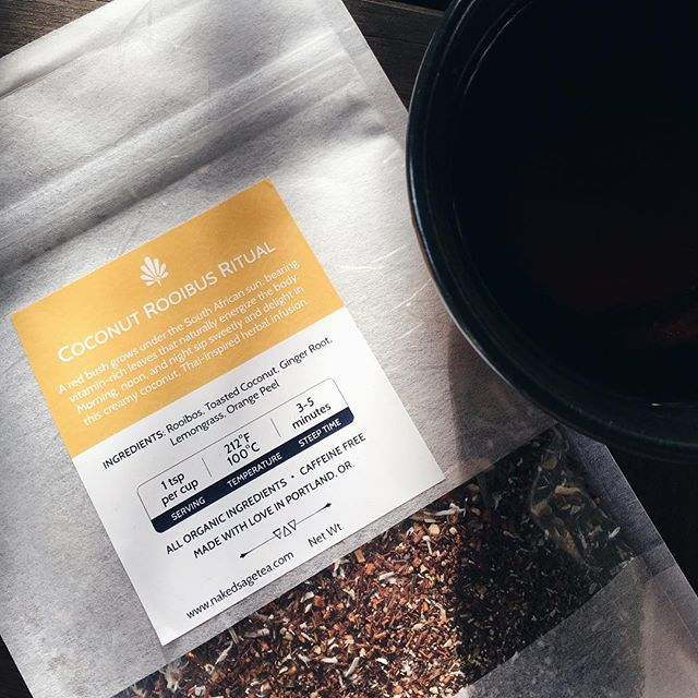 I also have large 2oz bags of selected flavors of @nakedsagetea! Each 2oz bag holds enough tea blend to make about 25 cups of tea, and I've got a few each of Coconut Rooibos Ritual (my favorite), Tulsi Ginger Om, For the Love of Roses, and Samadhi Chai. All were $20-22, now $16 each! Swipe through the photos and zoom in to read each blend's ingredients. DM to buy!