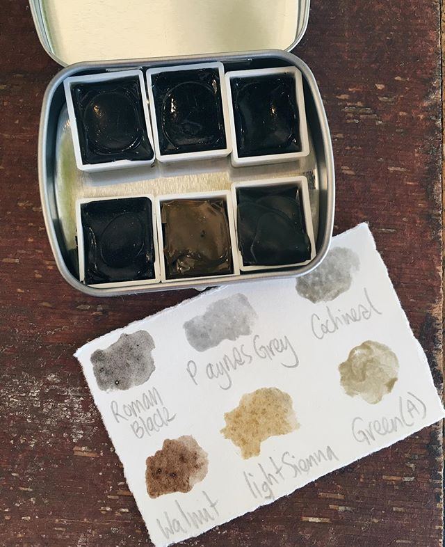 Next up: the very last large botanical watercolor palette by @ffrench - was $40, now $28! These palettes are amazing, the colors are made entirely from botanical material that Caitlin harvests and processed herself, and they're sold out everywhere! DM to buy