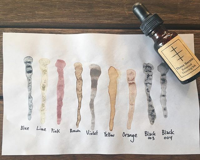 Adding more botanical colors to the closing sale! Botanical inks (can be used similar to watercolors, color washes, painted with, or used for writing) by @ffrench! I have several of each color shown in the photo, and they're each marked down from $10 to $7! DM to buy!