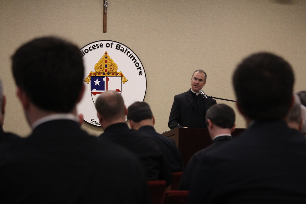 Fr. Paul Scalia addresses participants  on 'The Spirituality of the Preacher.""
