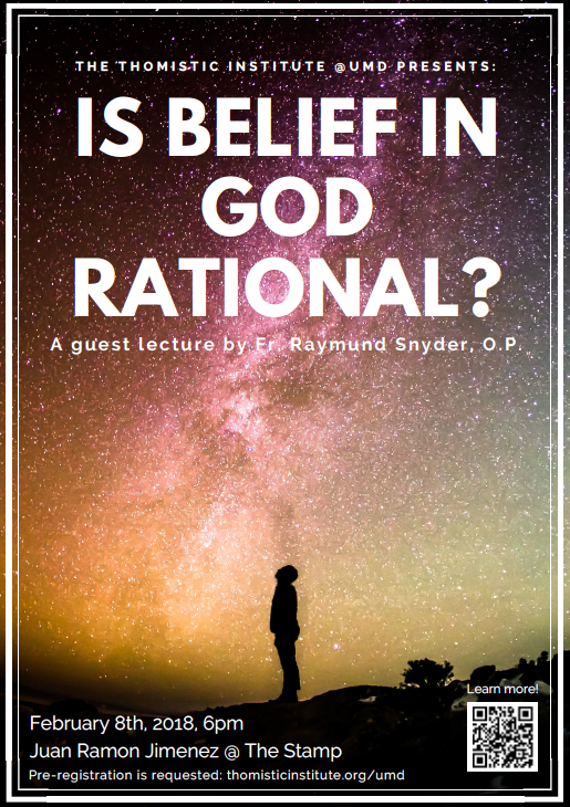 6:00 PM Is It Reasonable to Believe in God? — The Thomistic