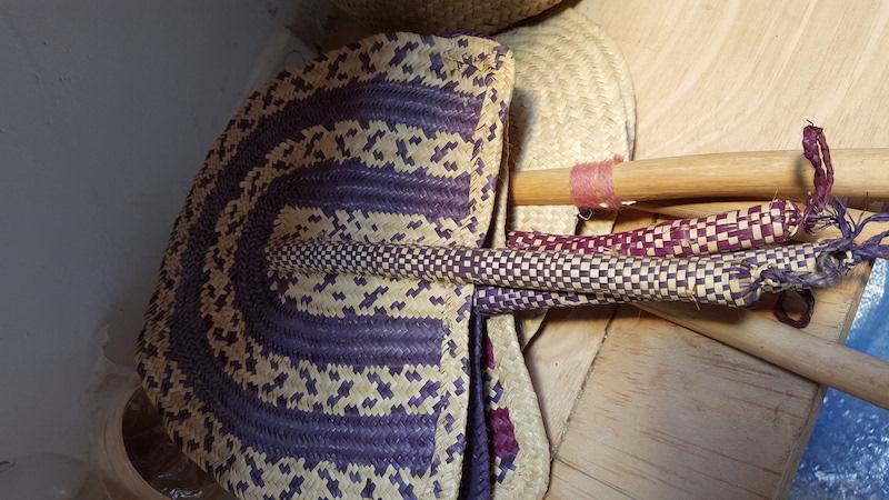 Handmade straw hand fans