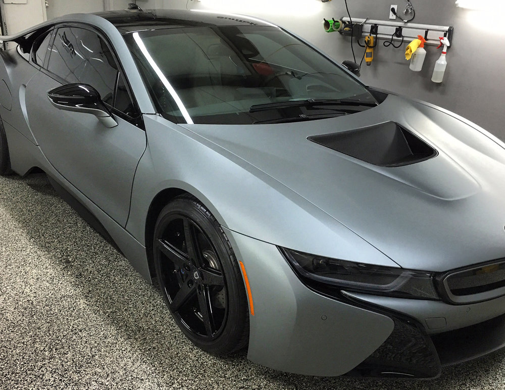 BMW+i8+matte+metallic+grey+wrap+nashville+thewraplab.JPG