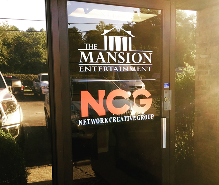 Facility entrance door branding and Graphics