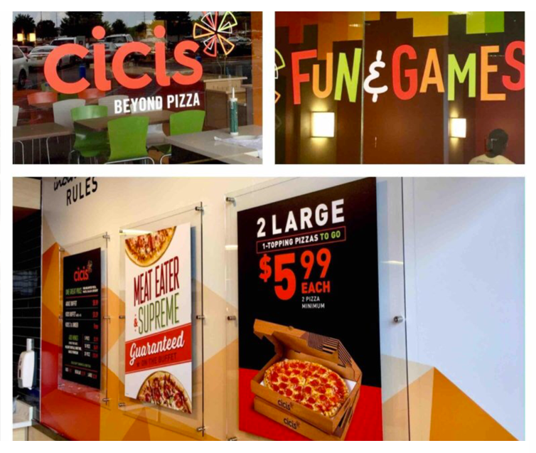 Restaurant Acrylic Displays and Logo Signage