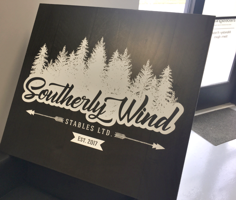 Southerly Wind Ohio Farm Logo Sign